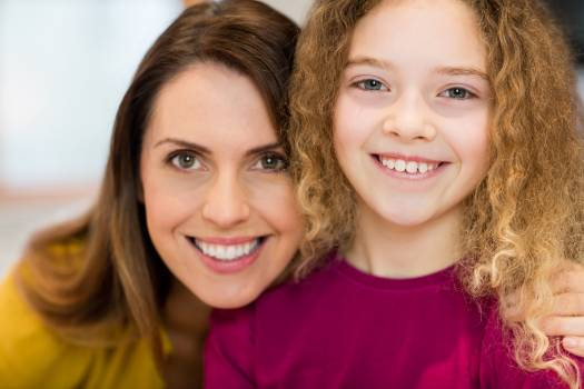 Portrait of mother and daughter #414064