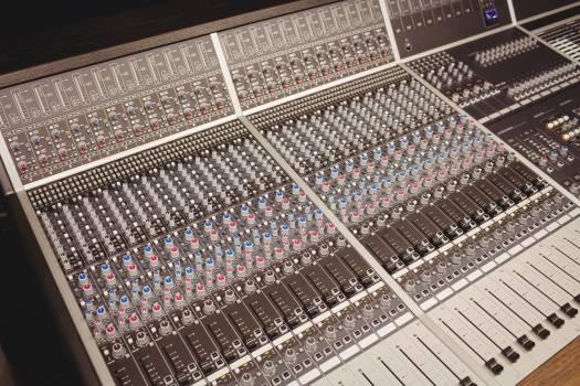 Close-up of a sound mixer #414324
