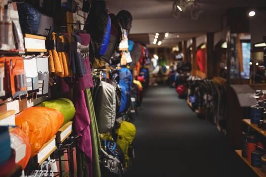 Bags on rack in store #414344