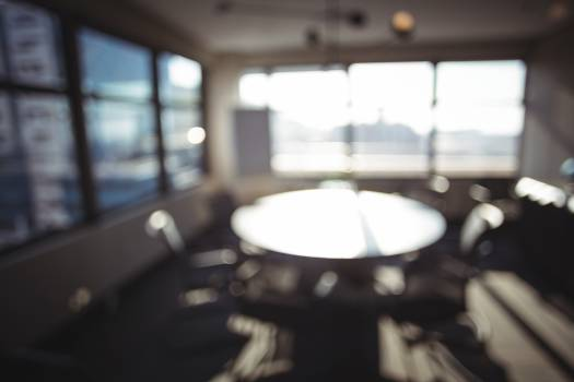 Blur view of modern meeting room #414432