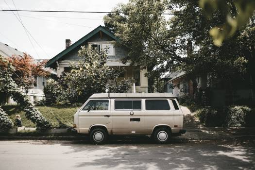 Volkswagen vintage driving van #41445