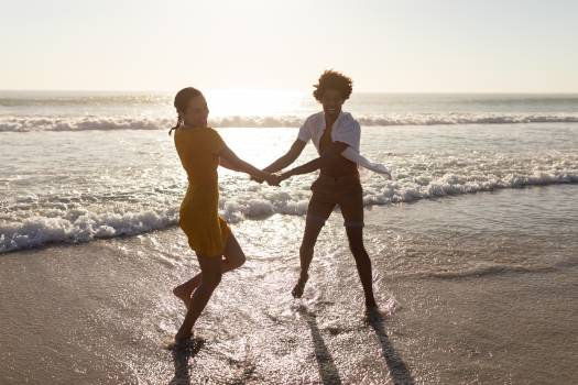 Couple having fun together on the beach #414498