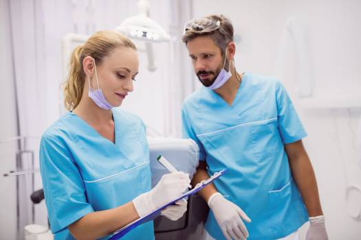 Dentists interacting with each other #414624