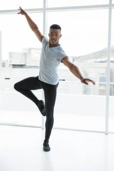 Ballerino practising ballet dance #414749