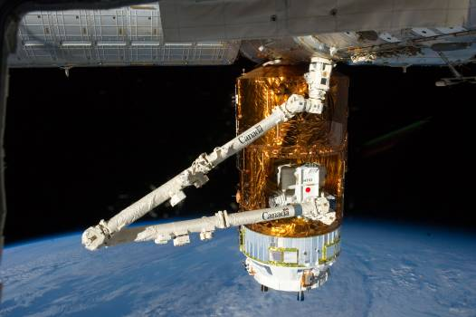 View of HTV3 berthed to Node 2 #414779