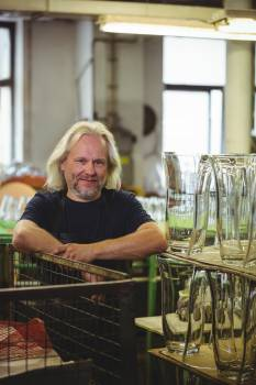 Portrait of smiling glassblower #414786