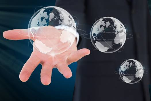 hand holding globe graphics #414811