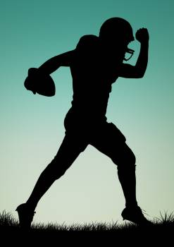 Silhouette of athlete playing rugby #414833