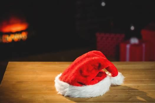 Santa hat on wooden plank #414858