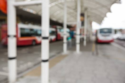 Parked buses at bus station #414882