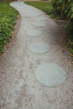 Stepping stone garden path #415304