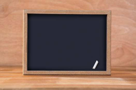 Blank chalkboard on a table #415349