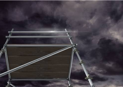 Dark clouds with 3D Scaffolding #415496