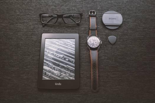 Black Kindle Tablet Turned on Free Photo