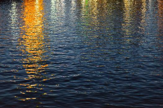 Water Sunset in the Golden Hour Free Photo Free Photo