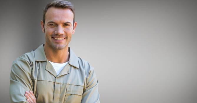 Portrait of smiling serviceman #415861