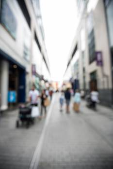 Blur view of pedestrian walking on street #415950