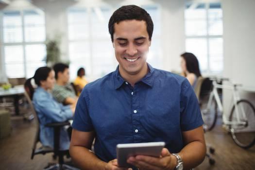 Man using digital tablet #415963