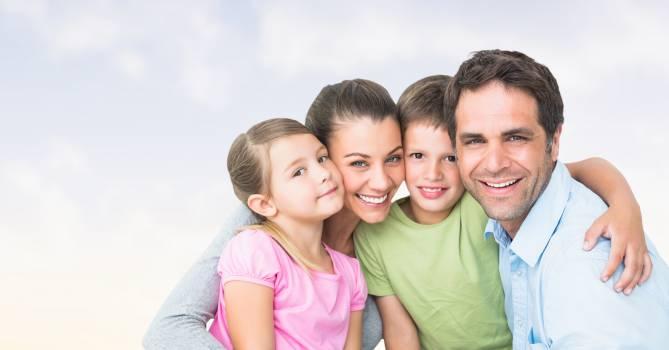 Portrait of happy family #416160