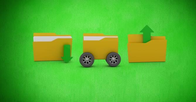 Folder icons on green background #416171