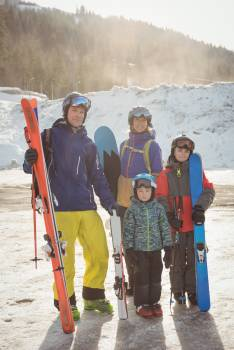 Portrait of happy family in skiwear #416507
