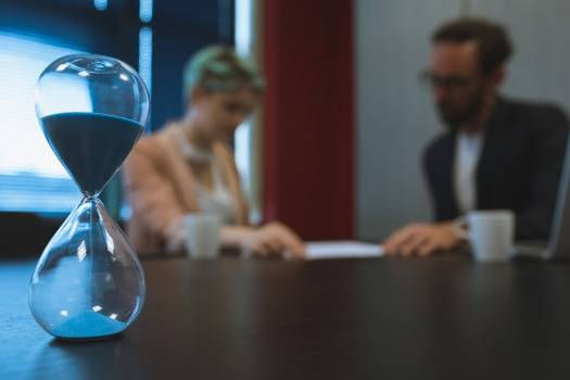 Hourglass on conference table #416741