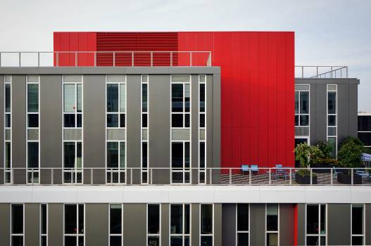 Red and Gray Concrete Building #41677