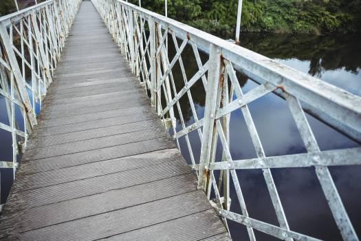 Wooden bridge over the river #416787