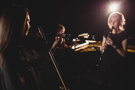 Women playing various instrument #416847