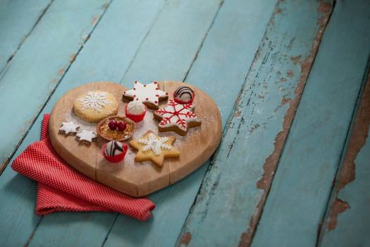 Christmas gingerbread cookies with icing #416856
