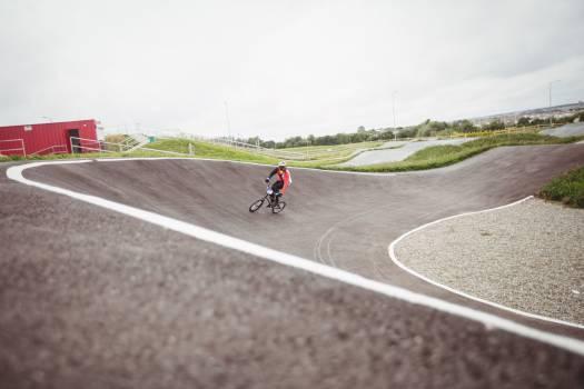 Cyclist riding BMX bike #416899