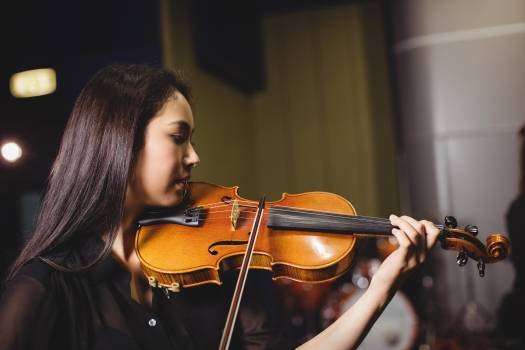 Female student playing violin #416924