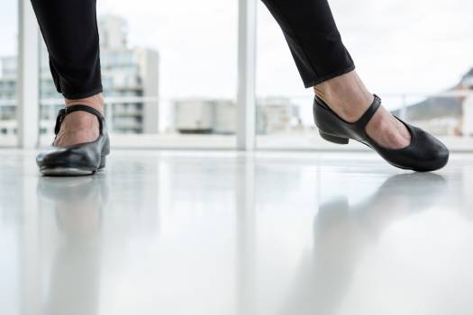Close-up of dancer wearing tap shoes #417033