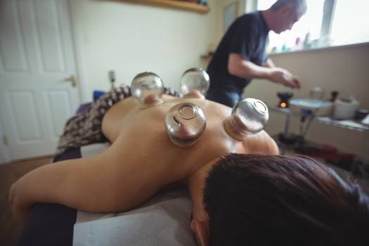 Man receiving cupping therapy #417340