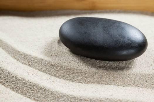 Black pebble stone #417443