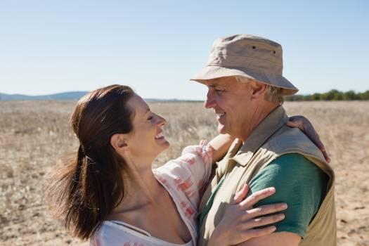 Romantic couple standing on landscape #417499