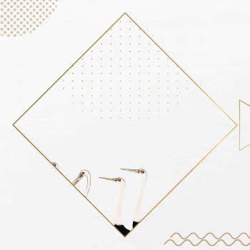 Golden rhombus frame design vector #417880
