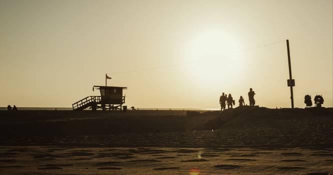 Lifeguard house on a Venice beach in California, USA #417882