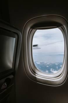 Sea view from plane window Free Photo