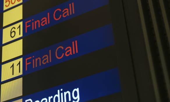 Flight status board at the airport #417897