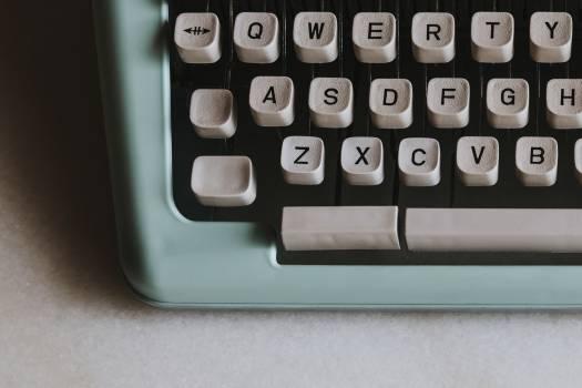 Closeup of a retro mint typewriter #417902