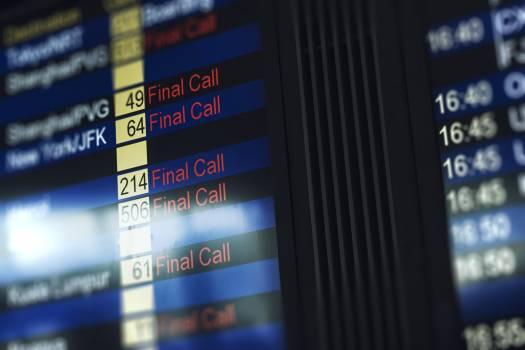 Flight status board at the airport #417911