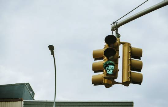 Green traffic light above the intersection #417926