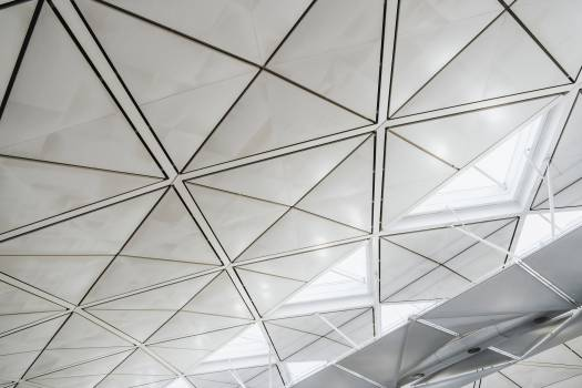 Interior design of the airport roof #417935