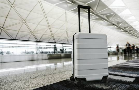 White luggage at the airport #417945