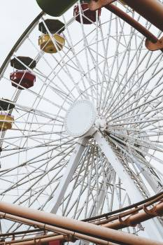 Ferris wheel in an amusement park #417972
