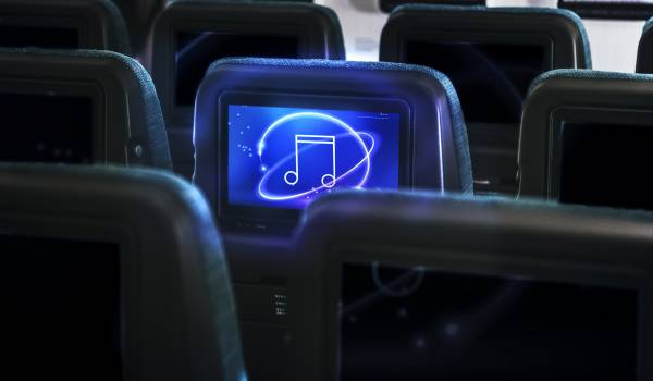 Airline in-flight entertainment screen #417976