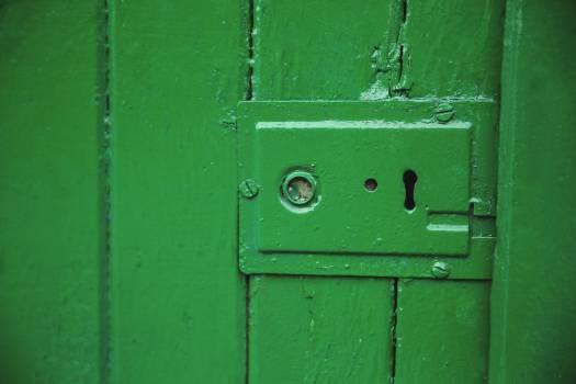 Green old door lock #418169
