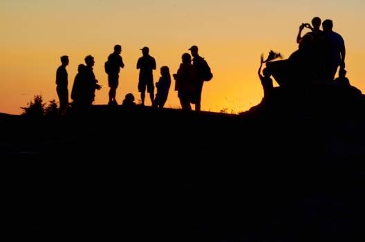 Sunset Silhouette Sun Free Photo