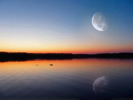 Moon Sky Sun Free Photo